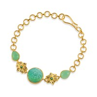 Emma Chapman Jewels Samsara Chrysoprase And Diamond Bracelet Green
