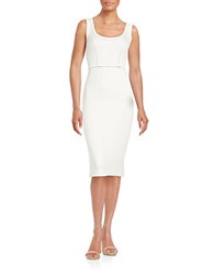 French Connection Seam Accented Bodycon Dress Summer White