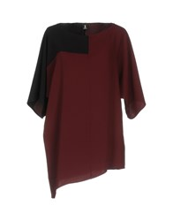 1 One Blouses Maroon