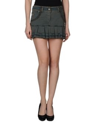 Galliano Mini Skirts Dark Green