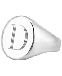 Sarah Chloe Initial Signet Ring In Sterling Silver D