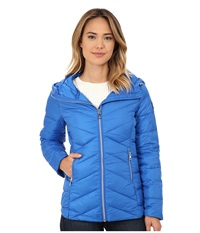 Sam Edelman Hooded Packable Down Jacket Royal Blue Women's Coat