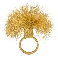 Amara Tassel Napkin Rings Set Of 4 Gold
