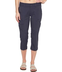 Columbia Silver Ridge Stretch Capri Pants India Ink Women's Capri Gray