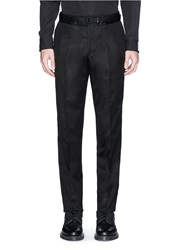 Alexander Mcqueen Skull Embroidery Belt Cotton Twill Pants Black