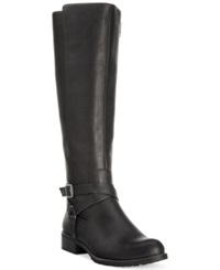 Style And Co. Brigyte Wide Calf Tall Riding Boots Only At Macy's Women's Shoes Black