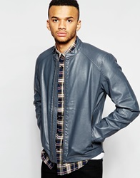 Jack And Jones Jack And Jones Faux Leather Jacket Ebonygrey