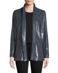 Cupcakes And Cashmere Anastasia Sequined Open Front Jacket Charcoal