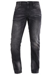 Tom Tailor Denim Atwood Straight Leg Jeans Black Stone Wash Denim Black Denim