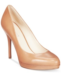 Nine West Kristal Platform Pumps Women's Shoes Tan Leather