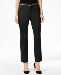 Jm Collection Belted Straight Leg Ankle Pants Only At Macy's