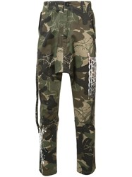 Haculla Camouflage Print Trousers Green