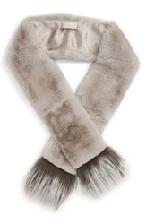 Women's Max Mara 'Vetrino' Genuine Rabbit Fur Scarf