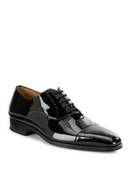 Magnanni For Saks Fifth Avenue Patent Leather Oxfords Black