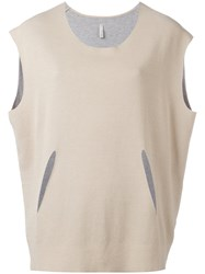 Boboutic Cut Out Detail Blouse Nude Neutrals