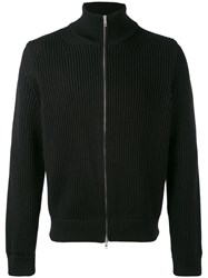 Maison Martin Margiela Zipped Knitted Sweatshirt Men Wool L Black