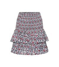 Etoile Isabel Marant Naomi Printed Cotton Miniskirt Multicoloured