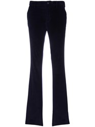 Pt01 Low Rise Flared Trousers Blue