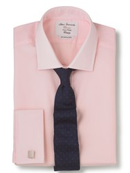 T.M.Lewin Poplin Fitted Shirt Pink