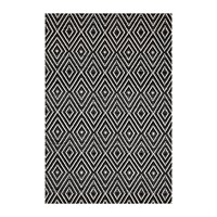 Dash And Albert Diamond Indoor Outdoor Rug Black Ivory