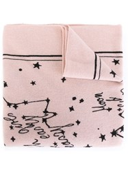 Lala Berlin Constellation Intarsia Scarf Pink And Purple