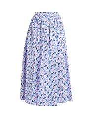 The Vampire's Wife Visiting Cotton Skirt Pink Print