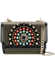 Elie Saab Embellished Small Shoulder Bag Black