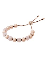 Michael Kors Large Bead Slider Bracelet Rose Golden Women's