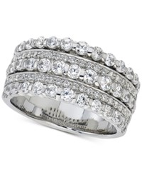 Macy's Diamond Five Row Band 1 1 2 Ct. T.W. In 14K White Gold