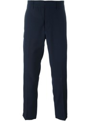 Dondup Cropped Tailored Trousers Blue