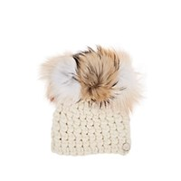 Mischa Lampert Crown Merino Wool Beanie White