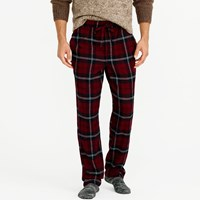 J.Crew Flannel Pajama Pant In Burgundy Plaid