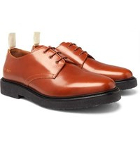 Common Projects Cadet Leather Derby Shoes Brown