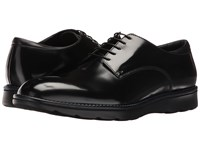 Z Zegna Hybrid Brushed Calf Derby Black Men's Dress Flat Shoes
