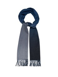 Begg And Co. Arran Ombre Effect Cashmere Scarf Blue Multi