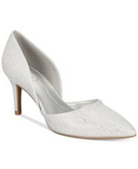 Bandolino Grenow D'orsay Pumps Women's Shoes White Silver