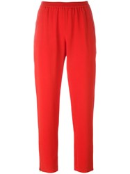 Stella Mccartney Cropped Slim Trousers Red