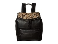 French Connection Emma Large Backpack Black Nude Mini Grain Pu Backpack Bags