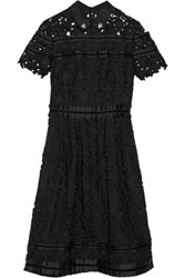 Raoul Embellished Guipure Lace Dress Black