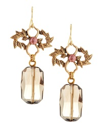 Stephen Dweck Smoky Quartz And Pearl Drop Earrings