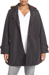 Plus Size Women's Larry Levine A Line Raincoat
