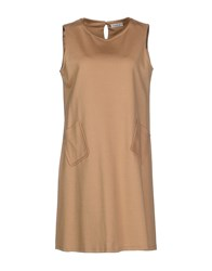 List Dresses Short Dresses Women Camel