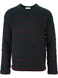 Salvatore Ferragamo Textured Sweater Grey