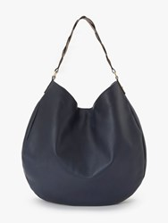 Boden Lingfield Slouchy Leather Shoulder Bag Navy