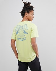 Volcom T Shirt With Digital Poison Back Print Green