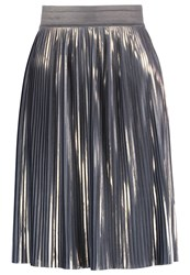 Mintandberry Pleated Skirt Silver