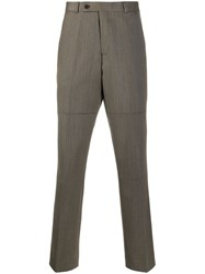 Martine Rose High Waist Long Trousers Brown