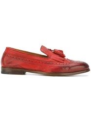 Doucal's 'Scarpa Mughetto' Loafers Women Leather 39.5 Red