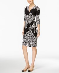 Inc International Concepts Petite Printed Wrap Dress Only At Macy's Palace Scroll