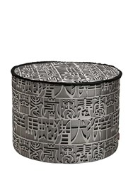 Missoni Ideogramma Silk Pouf Grey Black